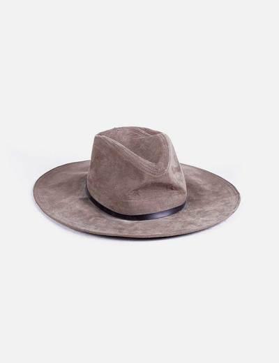 Sombrero khaki ala ancha Bershka