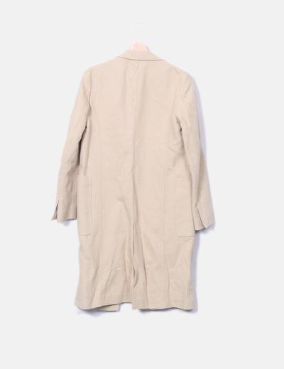 Zara Manteau beige long à double bouton (réduction 75%) - Micolet 567baef87898