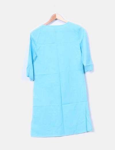 Kaftan azul turquesa manga francesa