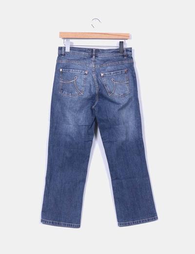 Pantalon tobillero de pata recta