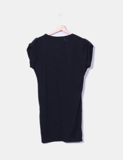 mayor selección de cómo hacer pedidos nuevo estilo de Vestido sport negro FEMME con flecos
