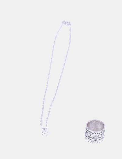 Conjunto de collar y anillo étnico NoName