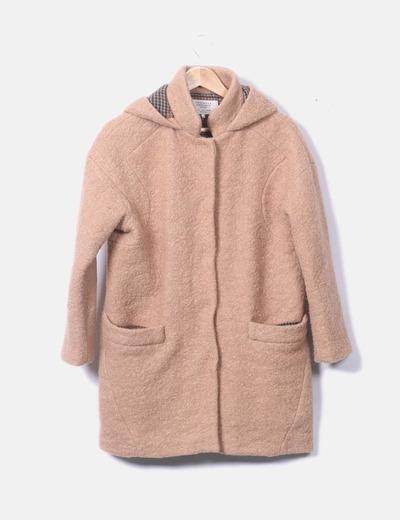 Abrigo de rizo con capucha