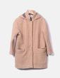 Abrigo de rizo con capucha Zara