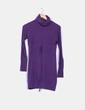Vestido tricot morado cuello vuelto Fashion House