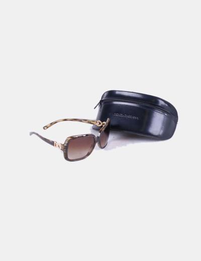 Gafas montura cuadrada verde jaspeada dg 4050