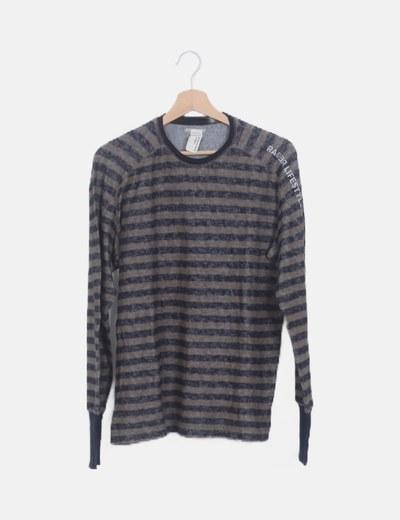 Suéter rayas taupé