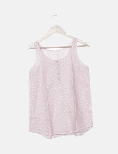 Blusa rosa palo estampado estrellas