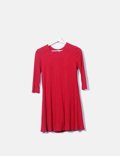 2004e9d73692 Bershka Robe rouge (réduction 76%) - Micolet