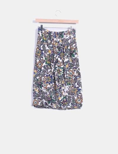 Falda con estampado multicolor