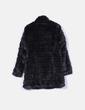 Manteau noir de à fourrure synthétiques Fórmula Joven