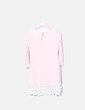 Vestido rosa de punto combinado Nekane