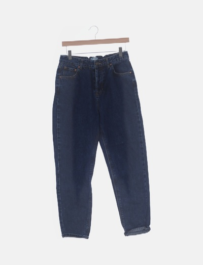 Pantalón boyfriend denim oscuro