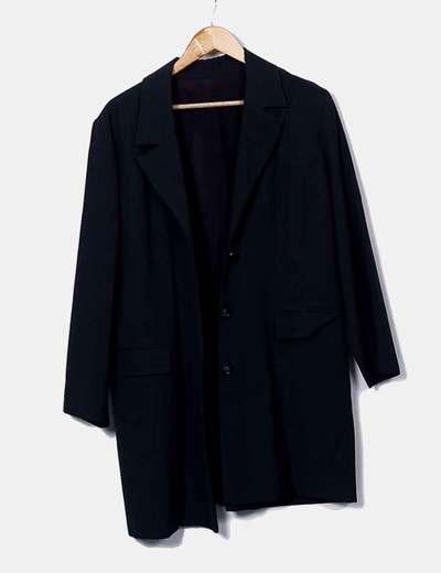 Conjunto de abrigo falda y chaleco gris