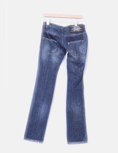 Jeans denim strass bootcut