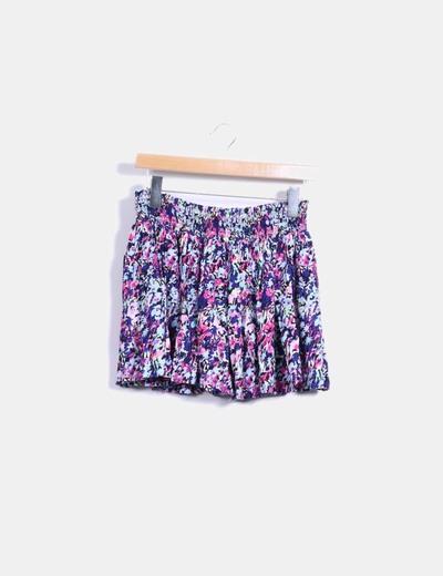 Minifalda floral multicolor H&M