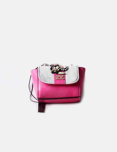 Pink mini bag combined Numeroventidue