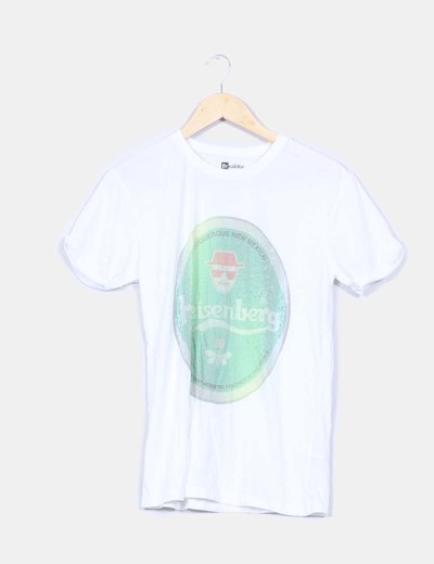 Camiseta blanca print Breaking Bad Level up wear