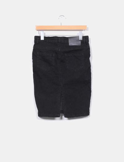 930d99af5 Zara Falda denim negra (descuento 95%) - Micolet