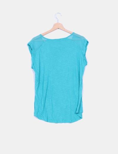 Camiseta combinada verde