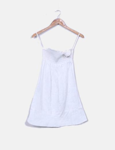 Naf Naf Robe blanche bustier (réduction 66%) - Micolet 340691ec795f