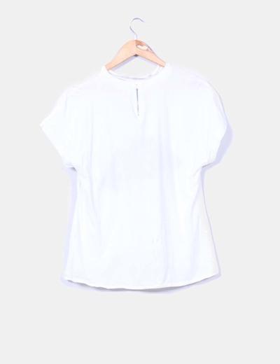Camiseta blanca print mujer