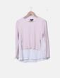 Blusa blanca con tricot rosa palo Primark