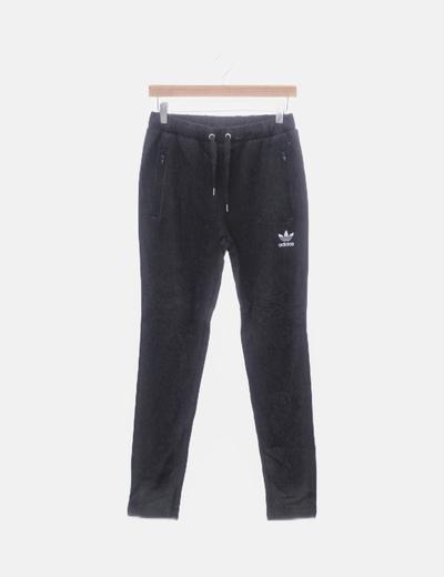 Pantalón baggy sport negro