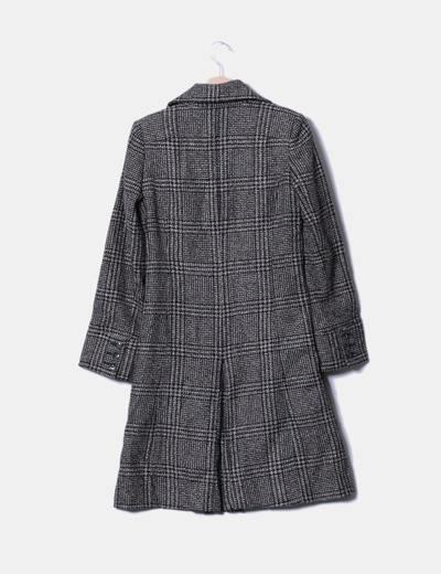 Abrigo largo texturizado