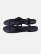 Sandalia negra con strass NoName