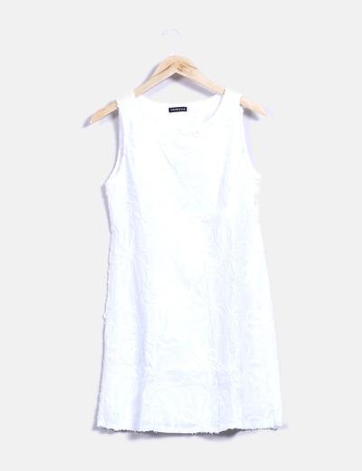 Vestido bordado blanco  Cerezas