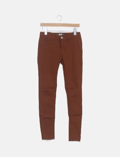 Jeans skinny camel