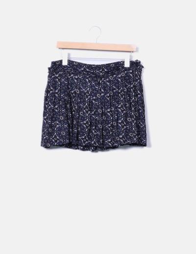 Mini saia floral Pepe Jeans