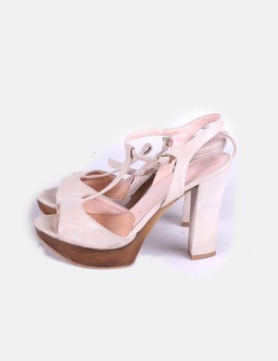 Chaussures beiges à talons MayFran