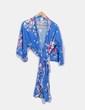 Kimono largo azul estampado NoName