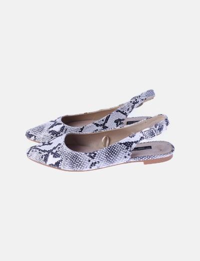 Zapato destalonado animal print