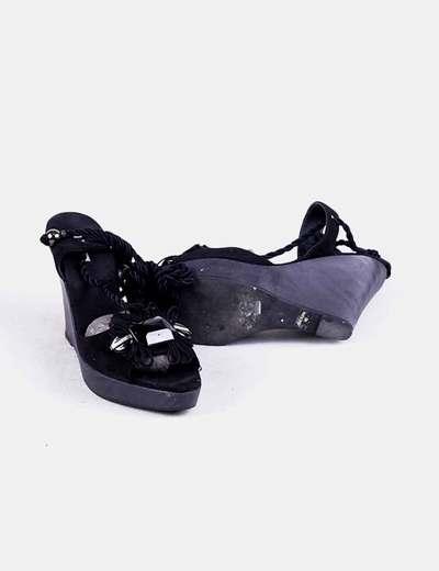 Sandalias Negras Strass Negras Cuñas Cuñas Cuñas Strass Sandalias Sandalias 08OkPwn