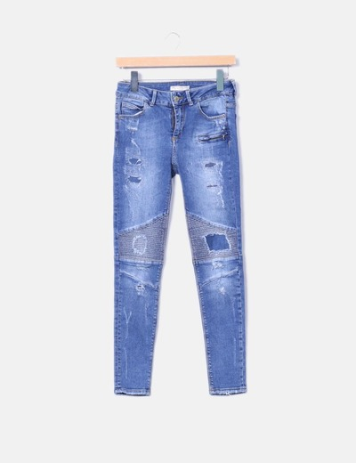 Jeans pitillo rotos