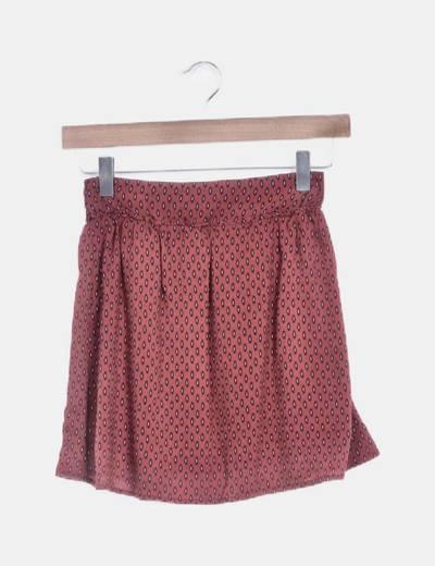 Falda mini granate print