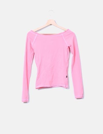 T-shirt rose avec coutures Ichi
