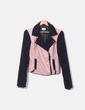 Jaqueta de couro rosa combinada Bershka
