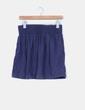 Falda azul marino Zara