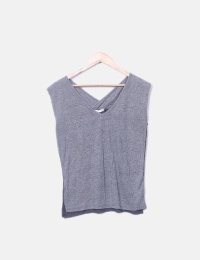 T-shirt gris à bretelles Lefties