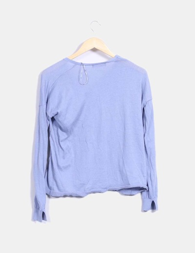 Top tricot azul