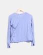 Top tricot azul Mango