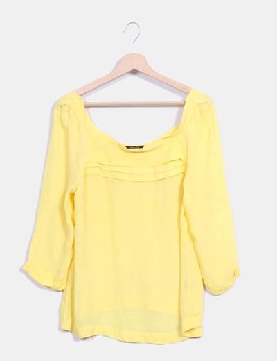Blusa amarilla Massimo Dutti
