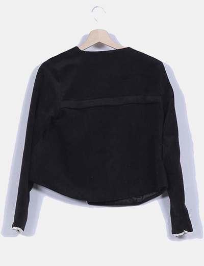 Cardigan negro de terciopelo