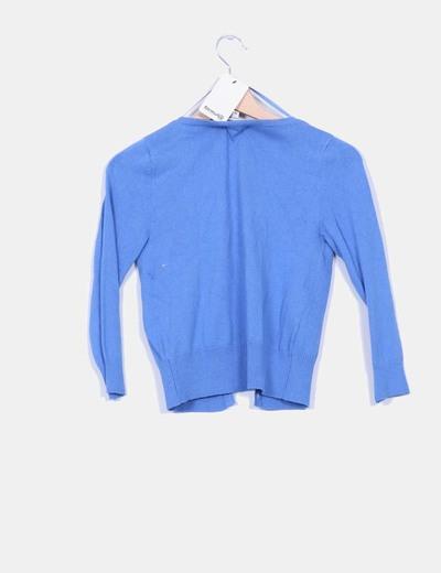 Cardigan azul de manga francesa