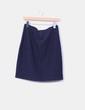 Falda midi azul marino Bocetto