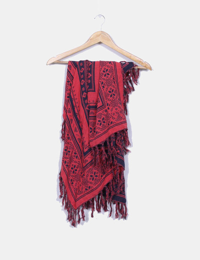 Roxy Foulard imprimé rouge et bleu marine (réduction 80%) - Micolet 3f83103f219